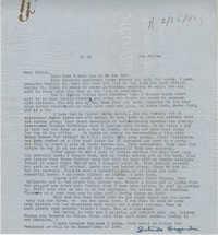 Letter from Gertrude Sanford Legendre, February 7, 1944