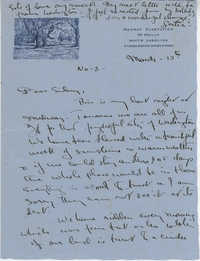 Letter from Gertrude Sanford Legendre, March 13, 1943