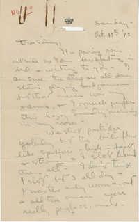 Letter from Gertrude Sanford Legendre, October 17, 1943