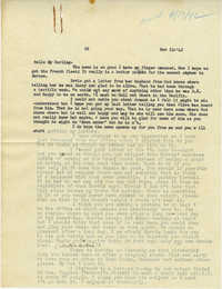 Letter from Gertrude Sanford Legendre, November 12, 1942