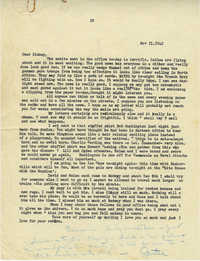Letter from Gertrude Sanford Legendre, November 11, 1943