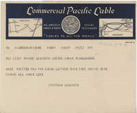 Letter 1 from Gertrude Sanford Legendre, November 14, 1943