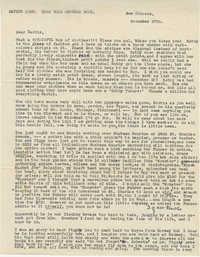 Letter from Olive Legendre, November 27, 1951