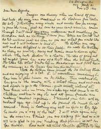 Letter from 'Rose,' November 4, 1944
