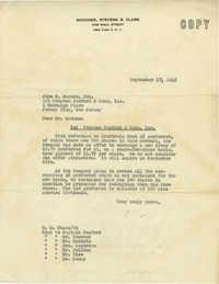 Letter from H. M. Chase, September 17, 1945