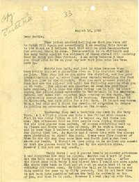 Letter 1 from Sidney Jennings Legendre, August 10, 1943