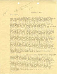 Letter 2 from Sidney Jennings Legendre, August 7, 1943