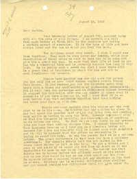 Letter 1 from Sidney Jennings Legendre, August 13, 1943