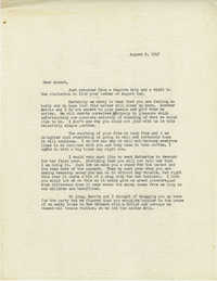Letter from Sidney Jennings Legendre, August 9, 1947