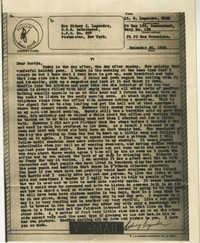 Letter from Sidney Jennings Legendre, December 20, 1943