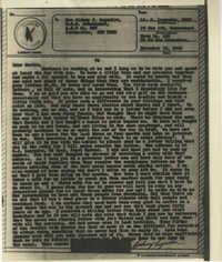Letter 1 from Sidney Jennings Legendre, December 19, 1943