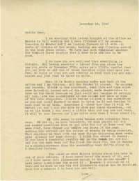 Letter from Sidney Jennings Legendre, December 13, 1942