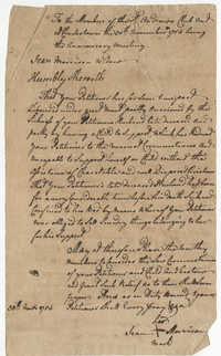 Petition from Jean Morrison to the St. Andrew's Society