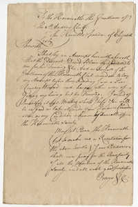 Petition from Elizabeth Lesley to the St. Andrew's Society