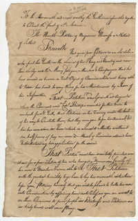 Petition from Benjamin Glenoross to the St. Andrew's Society