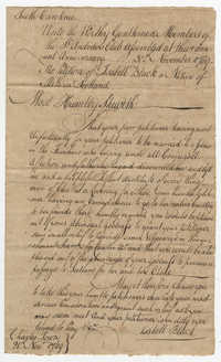 Petition from Isabella Black to the St. Andrew's Society