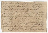 Petition from Elisabeth Daylee Shane to the St. Andrew's Society
