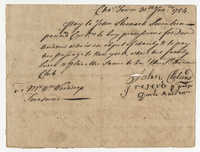 Treasurer's note from the St. Andrew's Society