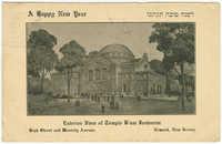 Exterior View of Temple B'nai Jeshurun, High Street and Waverly Avenue, Newark, New Jersey