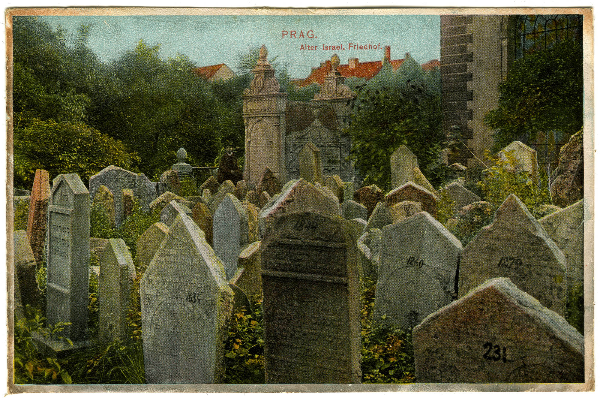 Prag. Alter israel. Friedhof.