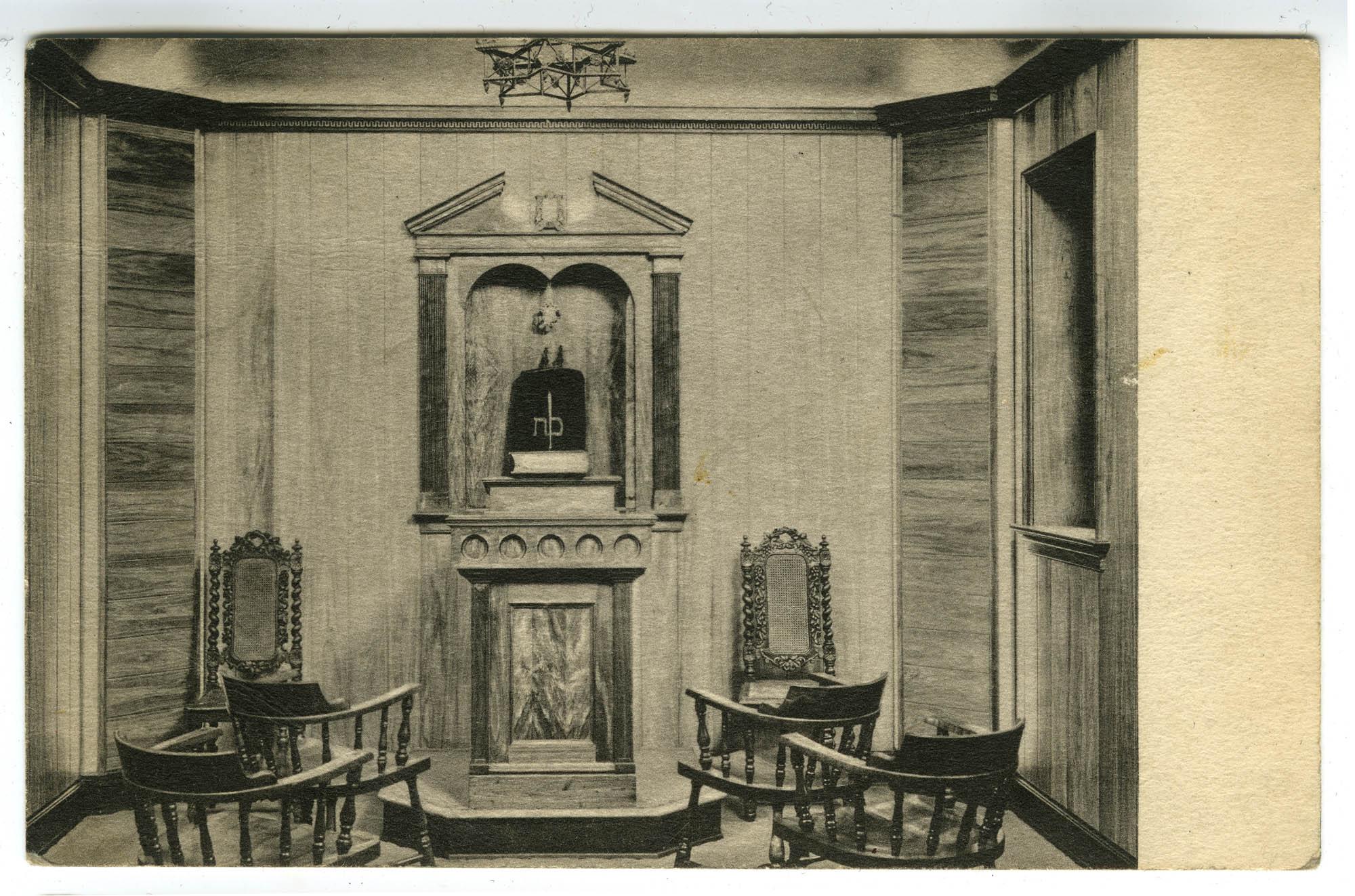 The Little Chapel. Gift of the Sisterhood of the Washington Hebrew Congregation, Jan. 1937