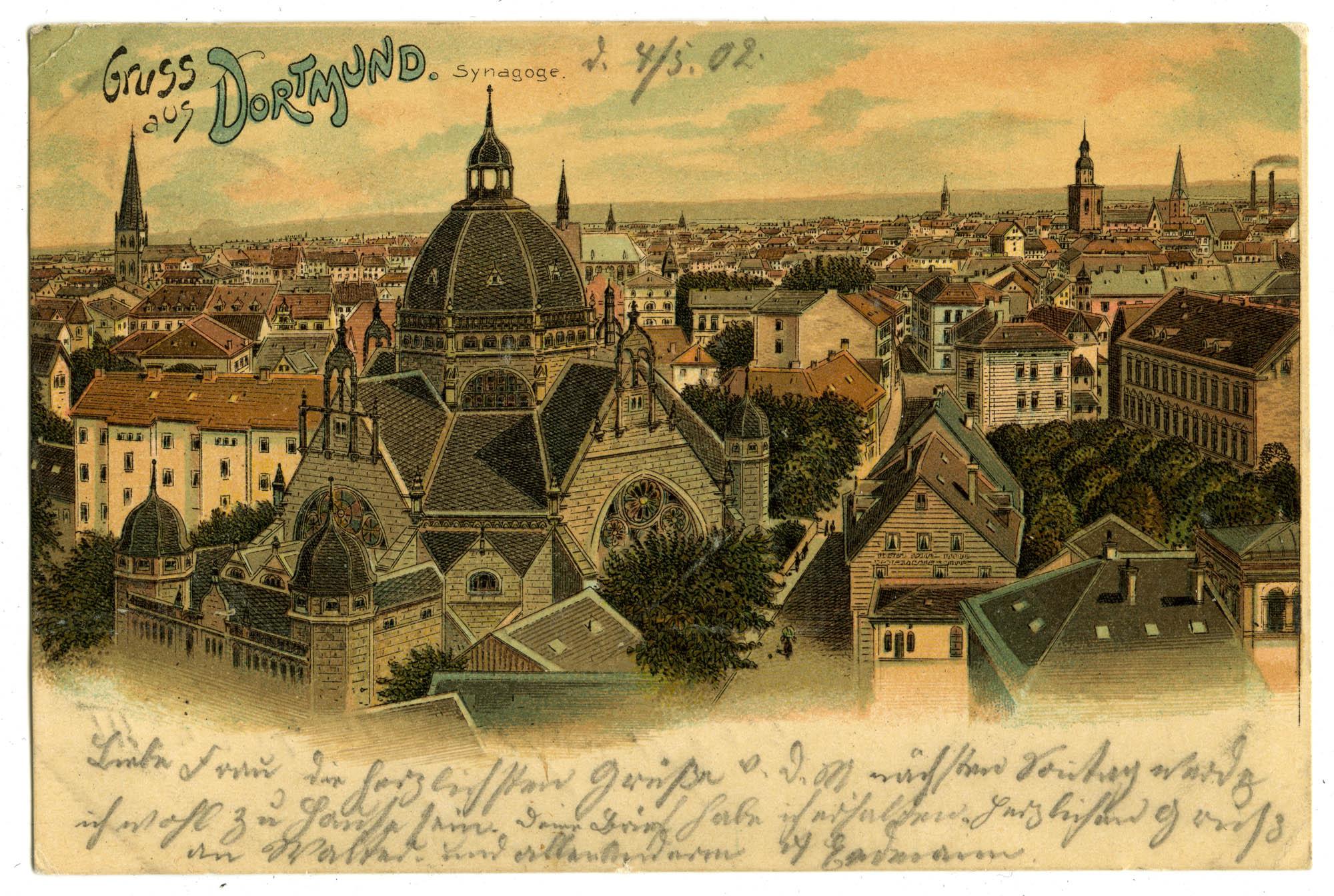 Gruss aus Dortmund. Synagoge.