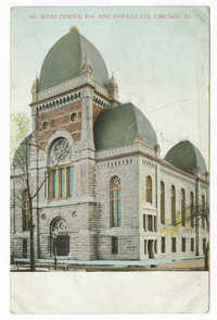 Sinai Temple, 21st and Indiana Sts. Chicago Ill.