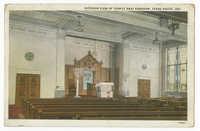 Interior view of Temple Bnai Abraham, Terre Haute, Ind.