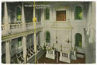 Interior of Jewish Synagogue, Newport, R.I.