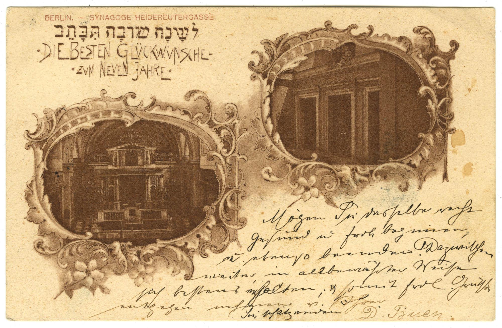 Berlin. - Synagoge Heidereutergasse