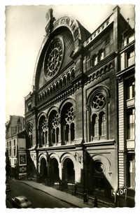 Grande Synagogue de Paris (1874). La Façade / The Front