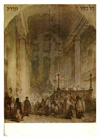 Johannes Bosboom (1817-1891) Interieur van de Portugese Synagoge, Amsterdam / Interior of the Portuguese Synagogue, Amsterdam