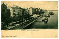 Bonn. Blick v. d. Rheinbrücke abwärts.