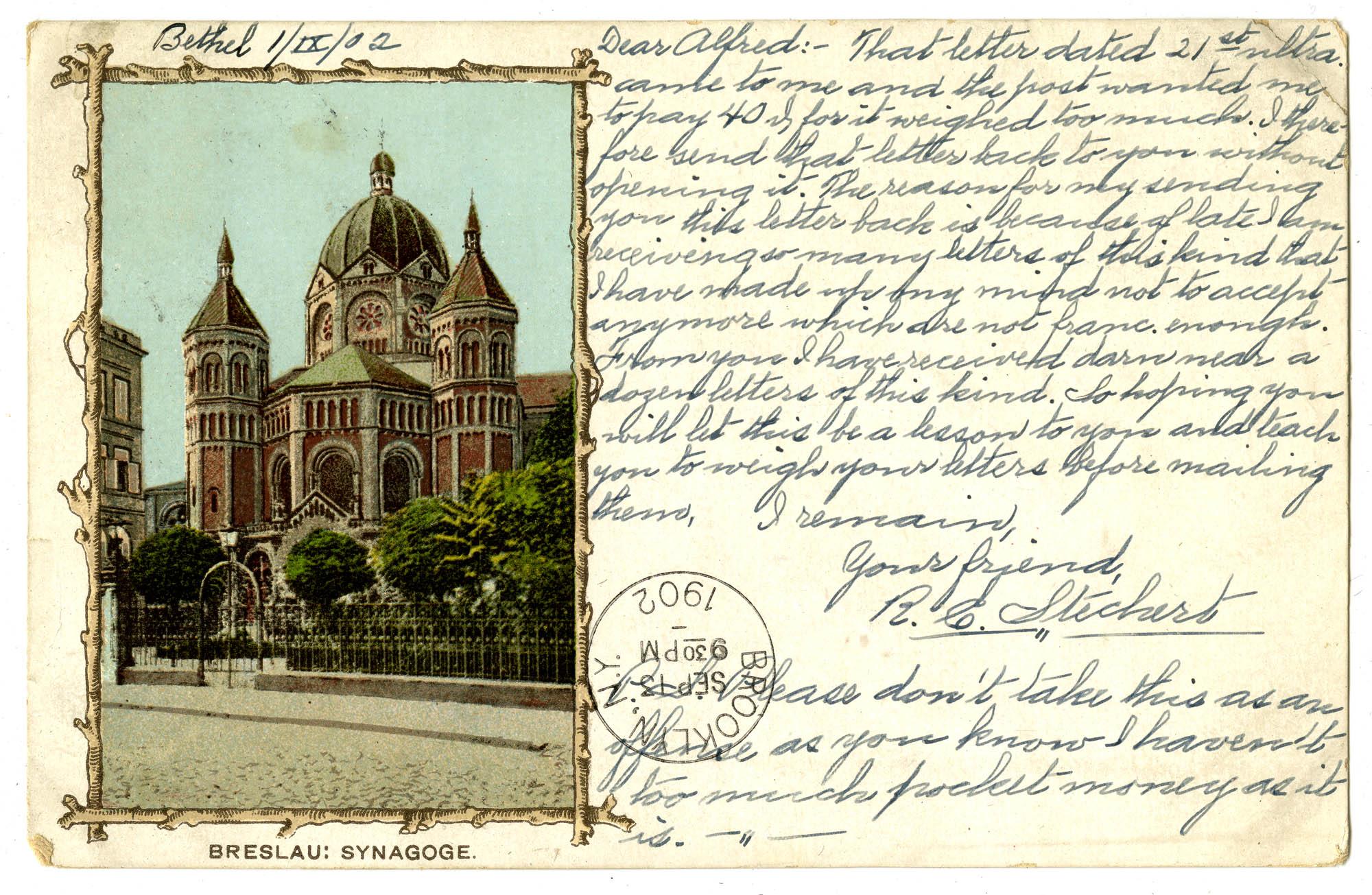 Breslau: Synagoge.