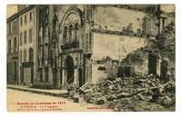 Guerre en Lorraine en 1914. Lunéville. - La Synagogue et Maisons de la Rue Castara incendiées