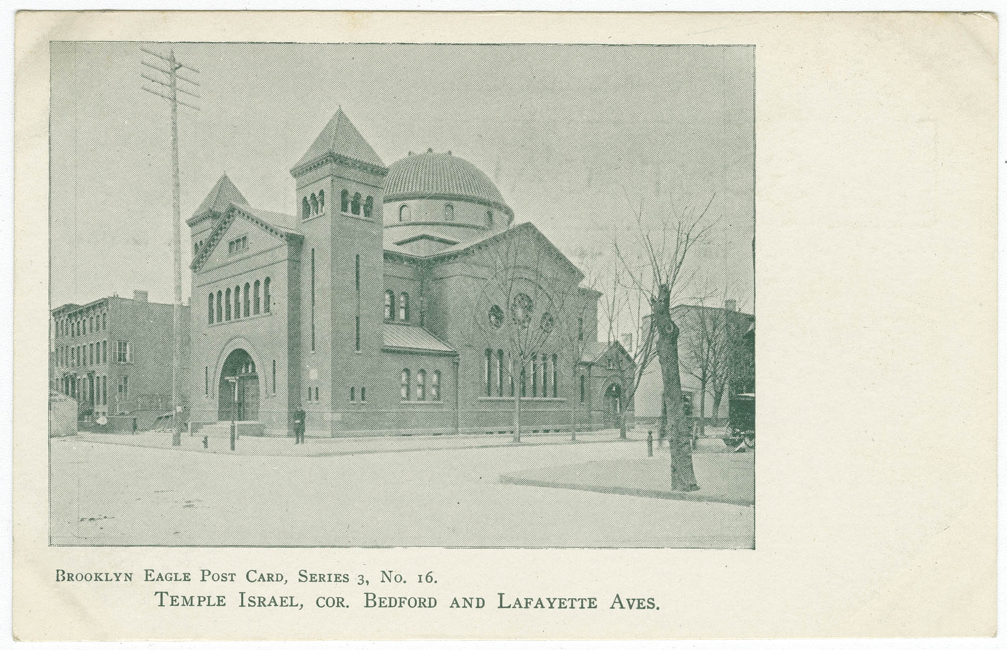 Temple Israel, cor. Bedford and Lafayette Aves.