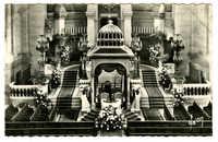 Grande Synagogue de Paris (1874). Le Chœur décoré pour un mariage / Ornated choir for wedding