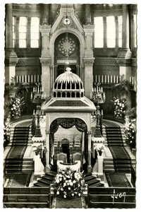 Grande Synagogue de Paris (1874). Le Chœur et la Khoupa / Choir and Khoupa