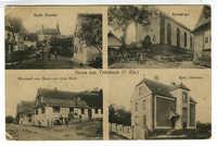 Gruss aus Trimbach (U-Els.) Kath. Kirche. Synagoge. Kath. Pfarrhaus. Wirtschaft zum Hirsch von Aron Bloch.