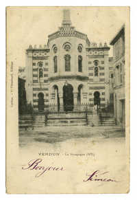 Verdun - La Synagogue (1875)