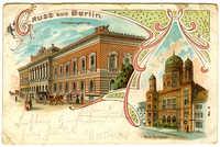 Gruss aus Berlin. Reichsbankgebäude. Neue Synagoge.