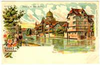 Gruss aus Nürnberg. Partie an der Insel Schütt.