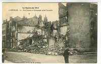 La Guerre de 1914. Lunéville - Rue Castara et Synagogue après l'incendie