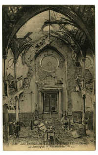 Les Ruines de la Grande Guerre. - Thann. La Synagogue. - Vue interieure.