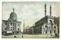 Eighth and Plum Streets & Jewish synagogue, Cincinnati
