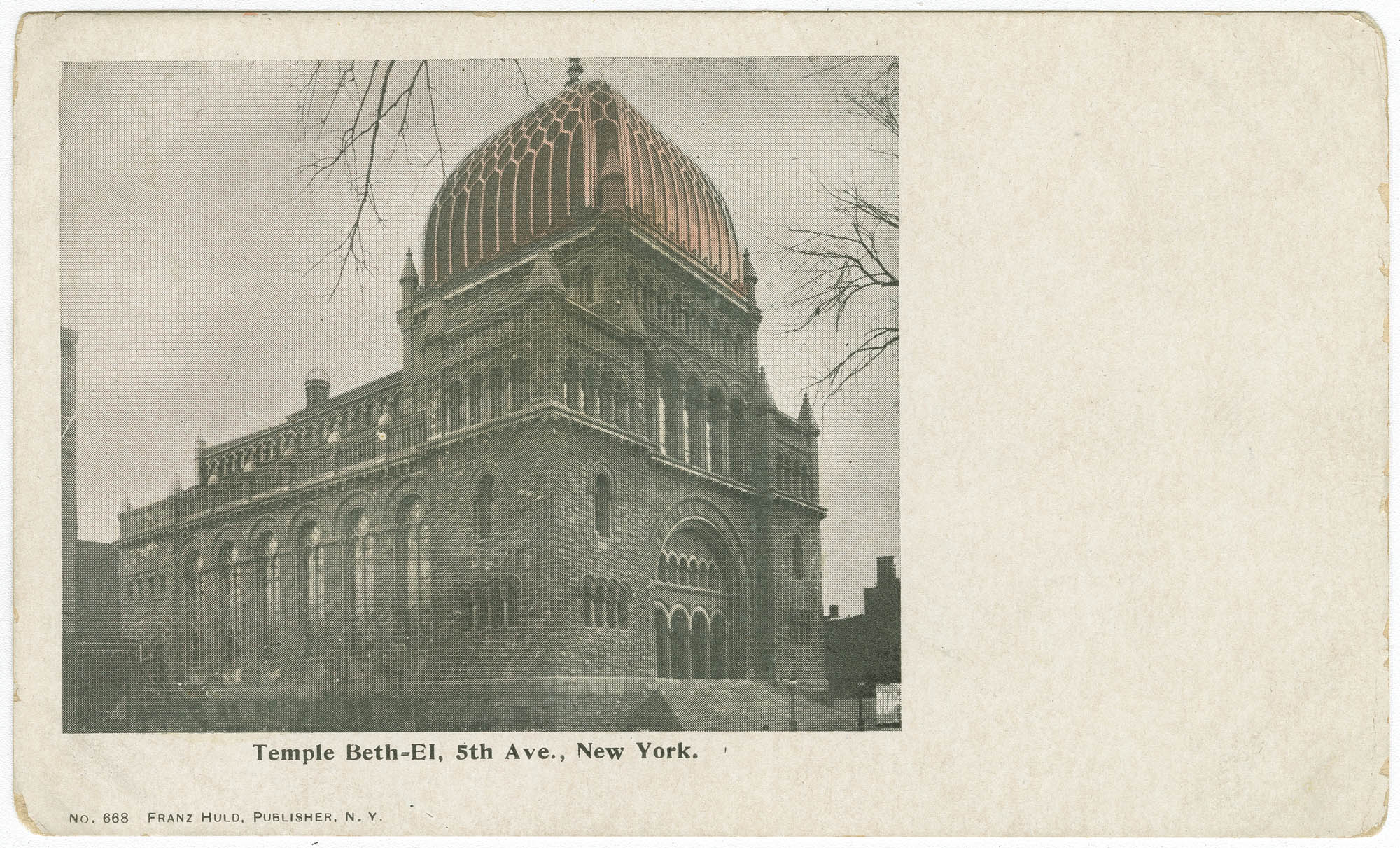 Temple Beth-El, 5th Ave., New York