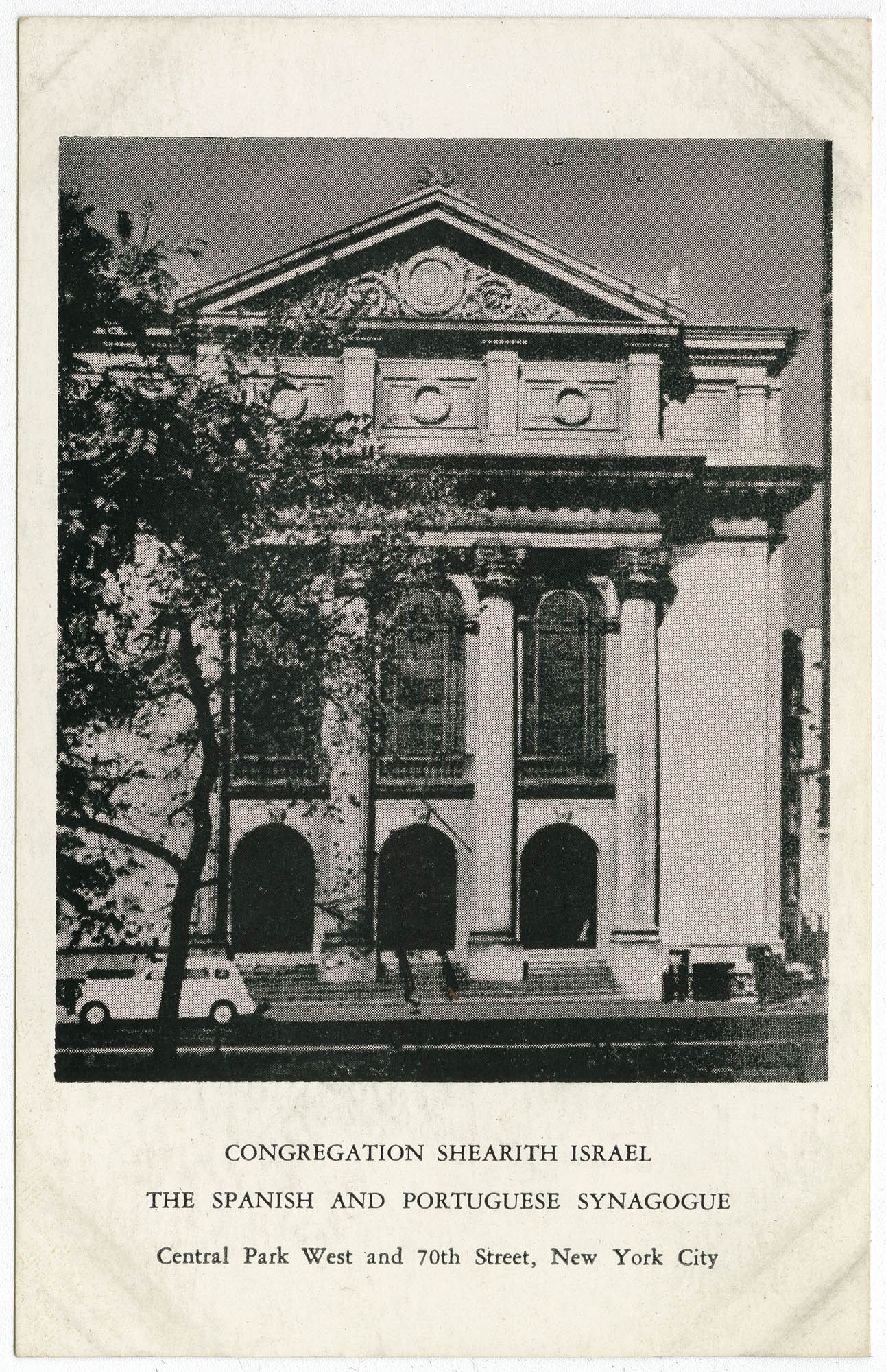 Congregation Shearith Israel, The Spanish and Portuguese Synagogue, Central Park West and 70th Street, New York City
