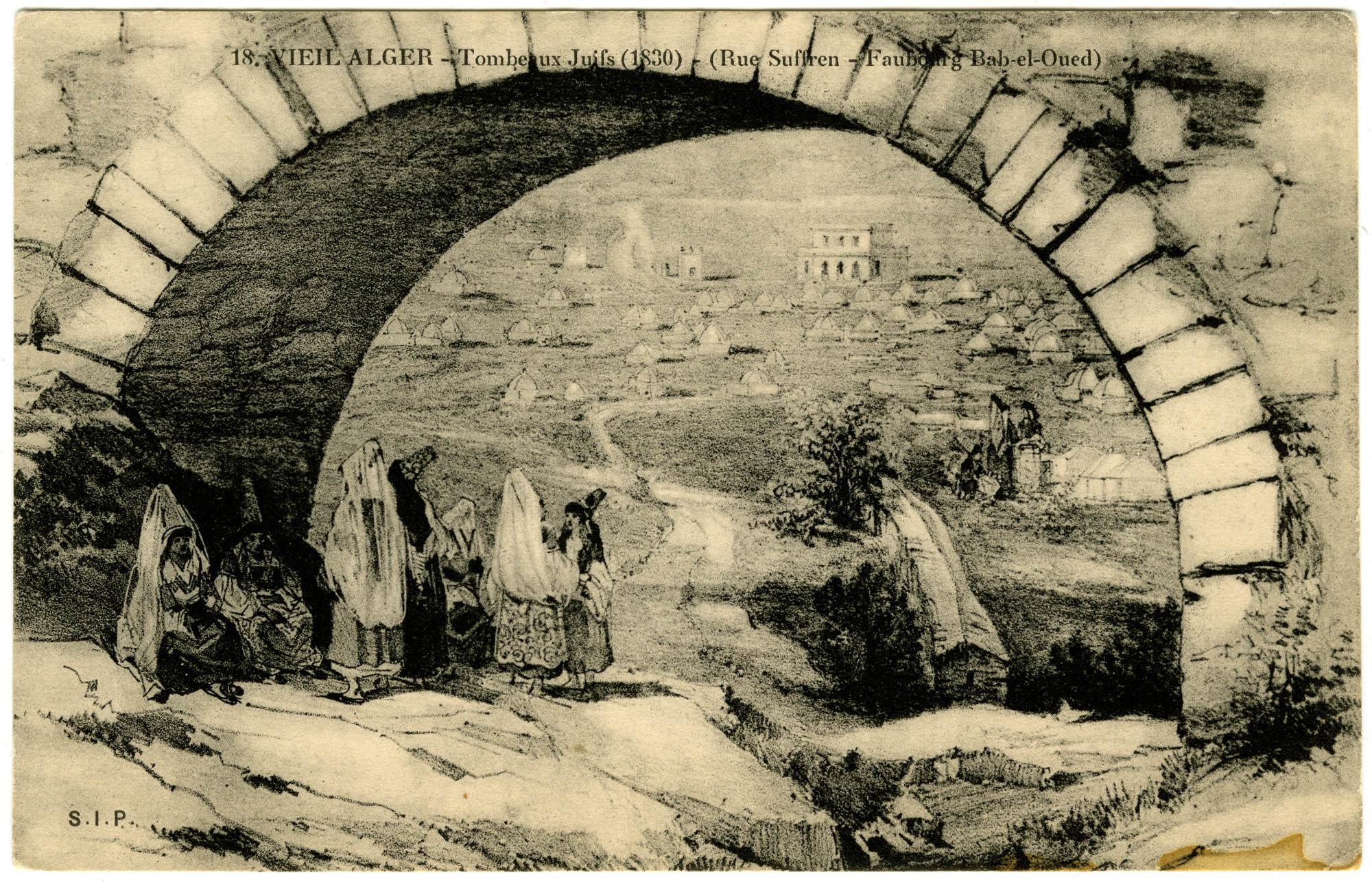 Vieil Alger - Tombeaux Juifs (1830) - (Rue Suffren - Faubourg Bab-el-Oued)