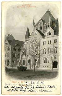 Köln a. Rh. Synagoge. Einwiehung: 22 März 1899.