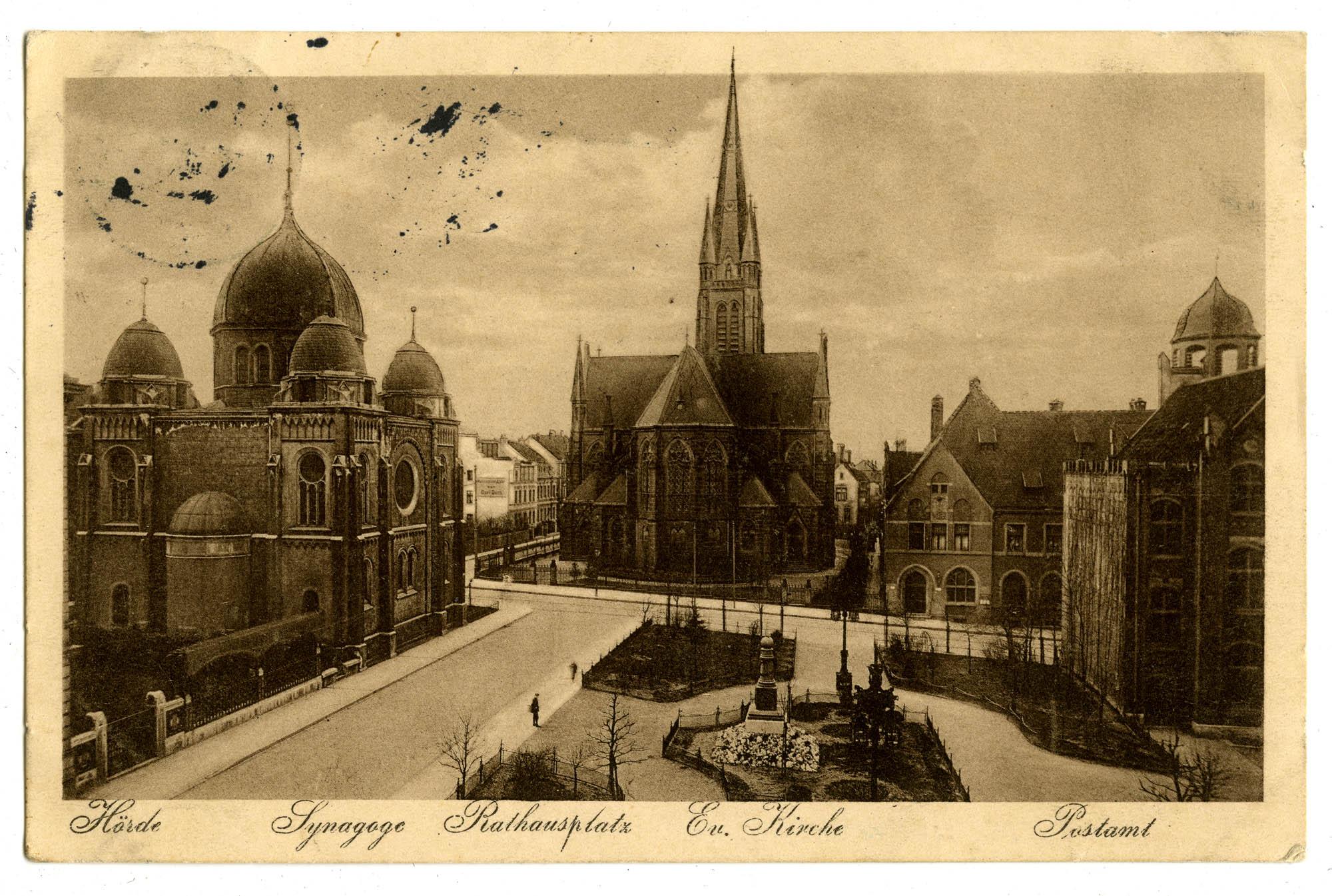 Hörde. Synagoge. Rathausplatz. Ev. Kirche. Postamt.